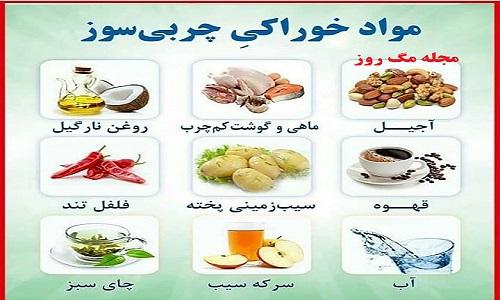 مواد خوراکی چربی سوز