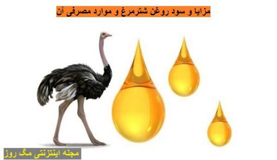 فواید بی نظیر روغن شتر مرغ