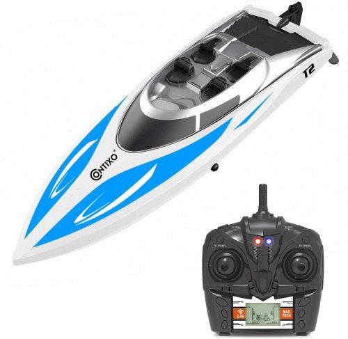 بهترین قایق های کنترل از راه دور از نظر طراحی: قایق مدل Contixo T2 RC Speedboat+بهترین قایق های کنترل از راه دور ارزان +از کجا بهترین قایق های کنترل از راه دوره را بخرم + قیمت قایق کنترلی+ خرید قایق کنترلی سایما + کشتی کنترلی