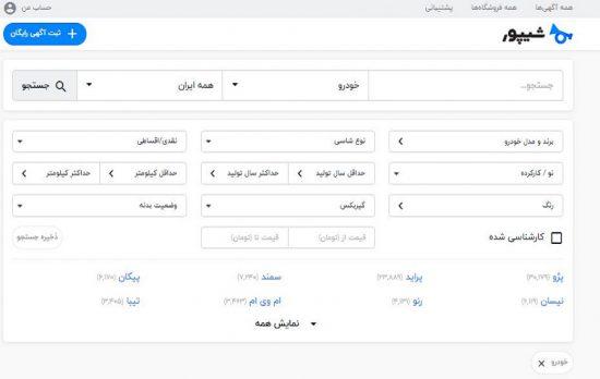 شیپور خرید و فروش و قیمت خودرو | صفر و کارکرده در سراسر ایران