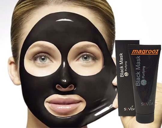 خرید بهترین مارک ماسک صورت - خرید ماسک زغال Sevda حجم 75 میلی لیتر