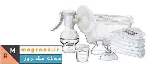 ست شیردوش تامی تیپی مدل 42341420 | ست خرید بهترین شیردوش برقی و دستی برای کودکان