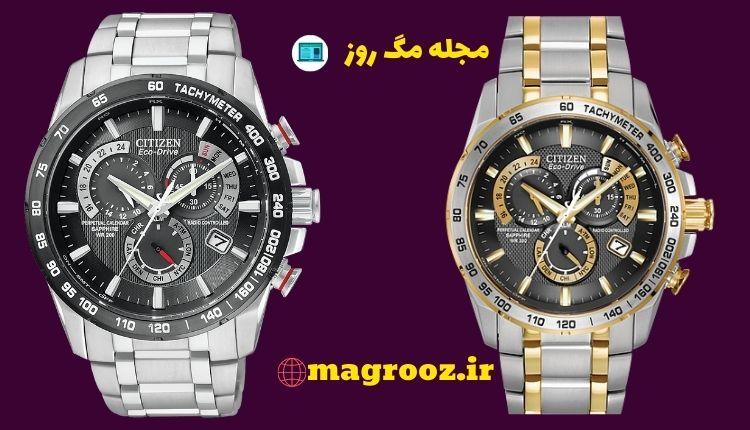 4.ساعت سیتیزن مدل Titanium Perpetual Chrono AT Watch