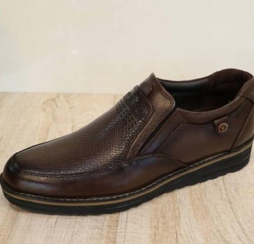 کفش مردانه چرم طبیعی بیبند مدل دکمه: