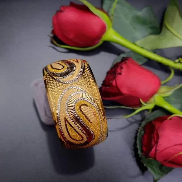 النگو طلا 18 عیار زنانه گالری یار طلا کد AL38-G-3